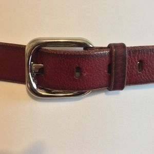 Fossil Belt size M Dark Red Leather Distressed